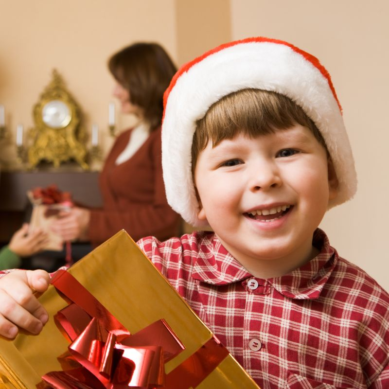 Christmas Holidays - A Boy with Gift