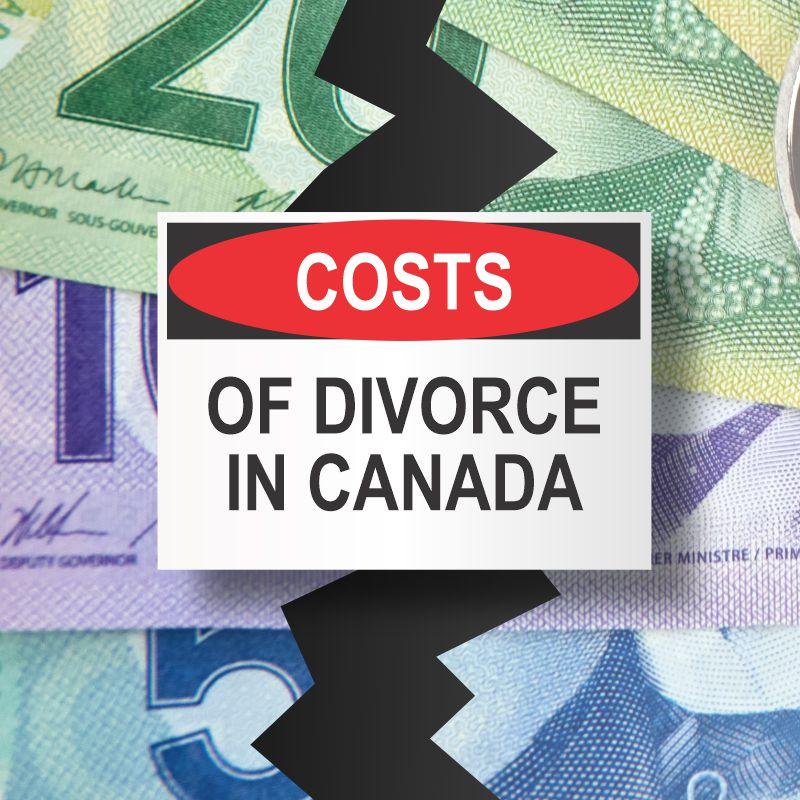 Costs of divorce in Canada