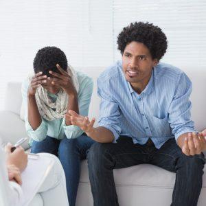 Couple Talking to Mediator