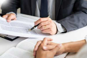 Divorce Lawyer Reviewing Litigation Process