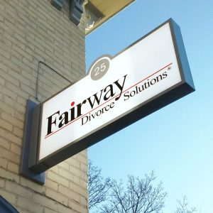 Fairway Divorce Solutions Lite Sign