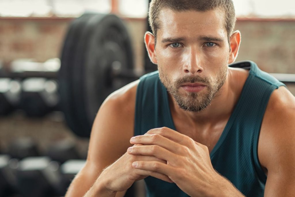Healthy muscular man