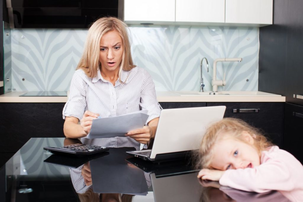 Separated Women Reviewing Living Expenses