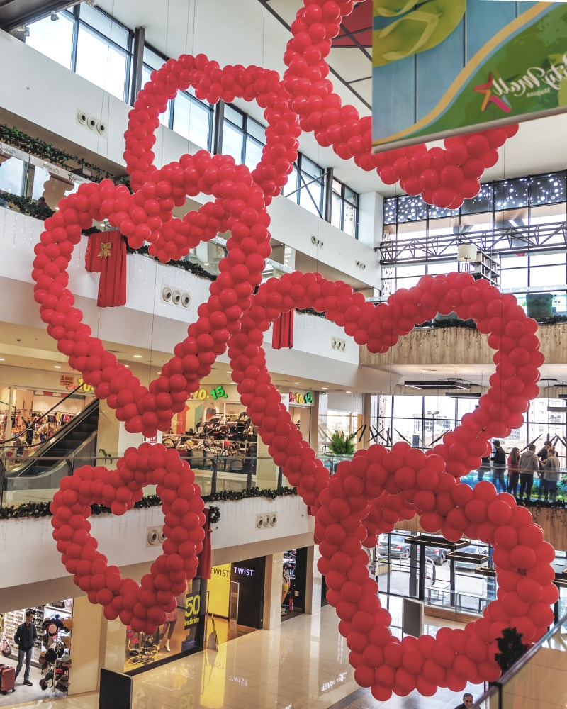 Store with Valentine's Decorations